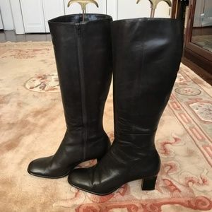 Ann Taylor Tall brown leather boots